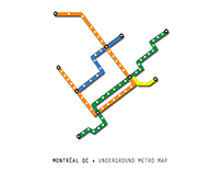 Montréal QC •Underground Metro Map