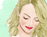 DIGITAL PAINTING: Emma Stone