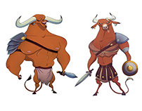 MINOTAURS SKETCHES
