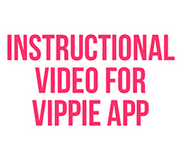 Instructional video for Vippie app