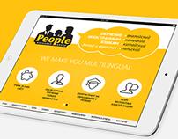 Landing Page for Language Center People