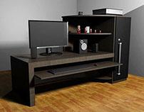 """Modelagem 3D - Cena de Estudo """"Home Office"""""""
