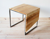 Industrial coffee table Forest Cube