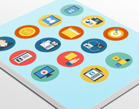 12 Freebie Corporate Flat Icons