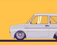 """Fiat 126p zwany inaczej """"maluchem"""""""