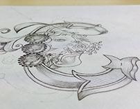 Closera logo | Hand sketching