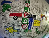 Fresque murale, 4 x 2 m @La Gaîté Lyrique, Paris, 2014