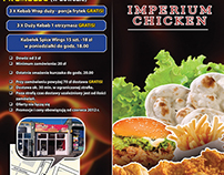 Leaflet for refreshments Imperium Chicken