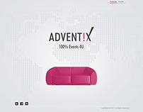 Adventix website design
