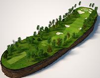 Mapas 3d campo de golf