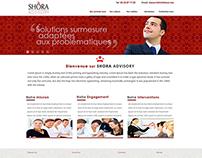 SHORA Advisory website design