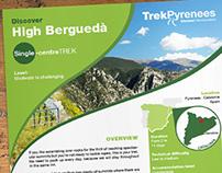 Catálogo interactivo y díptico TrekPyrenees (2014)