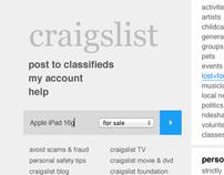 Craigslist Redesign