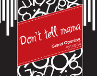 """Don't tell mama"" bar Flyer"