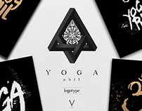 YOGA phil CALLIGRAPHY LOGO