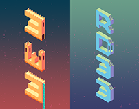Monument Valley Inspired Lettering