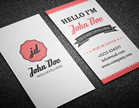 Retro Personal Business Card - (Free Download)