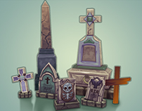 Lowpoly Graves