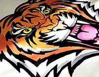 Tiger Gouaches Work