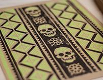 Artesanía Sugar Skull - Block Print