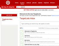 Target - TargetLists Web App