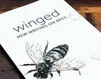 'Winged' book jacket design