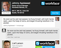 Workface - Anonymous User Chat UX/UI