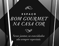 Convite - Espaço Bom Gourmet na Casa Cor