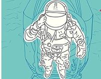 Ilustración tributo Felix Baumgartner