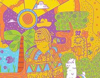 "CHOLITA,  cover magazine for the Mgazine "" La Brujula"""