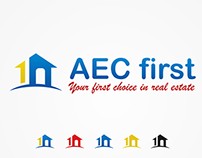 Winning design in 99designs (Logo for AEC First)