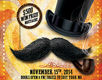 Movember Mustache Party Flyer