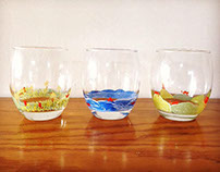 Hand-painted glass