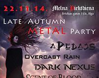 Poster for LATE AUTUMN METAL PARTY