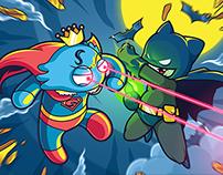 Superman VS Batman (Bluboo VS Black Fledermaus)