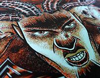 Iron Walrus silkscreen Poster Tour 2014