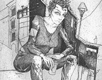 Calamity Jane #08 (Lehrter Straße) Etching