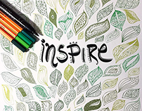 Inspire - Typography Illustrative Artwork