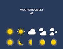 Weather icon 63 set