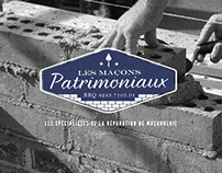 Les Maçons Patrimoniaux // Logo