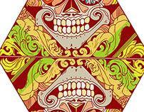 skull -draw design