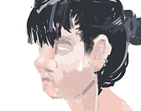 fictive digital portrait studies