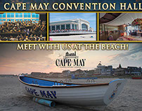 Cape May, NJ Convention Hall Photo Backdrop Banner