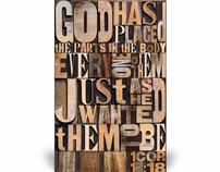 Body of Christ letterpress