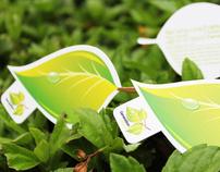 Generation Green Die-Cut Business Card