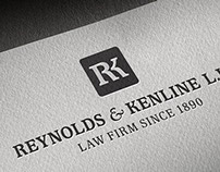 Logo and Website for Reynolds & Kenline Law Firm