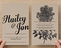 Gray Wedding Invitations