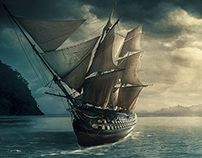 Ship Photo Manipulation scene