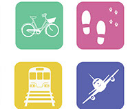 Modes of Transport Icon Set