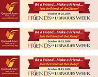 Bookmarks for The Friends of Libraries Campaign